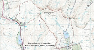 Brecon Beacons Circuit OS Map